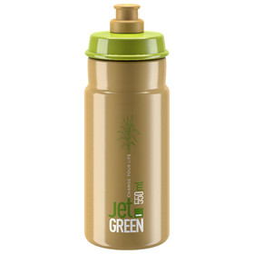 Elite Jet Green Drinking Bottle 550ml, green brown/white logo